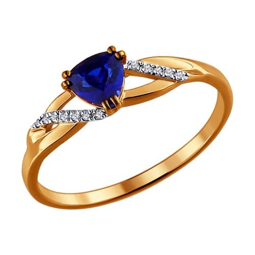 золотое кольцо 585 с топазом