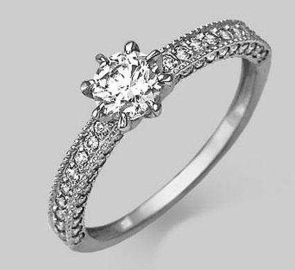 кольца спаси и сохрани из белого золота