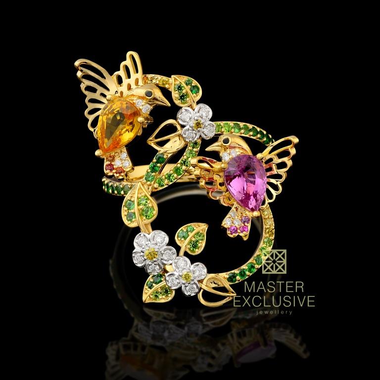 эксклюзивные обручальные кольца из золота 750 пробы