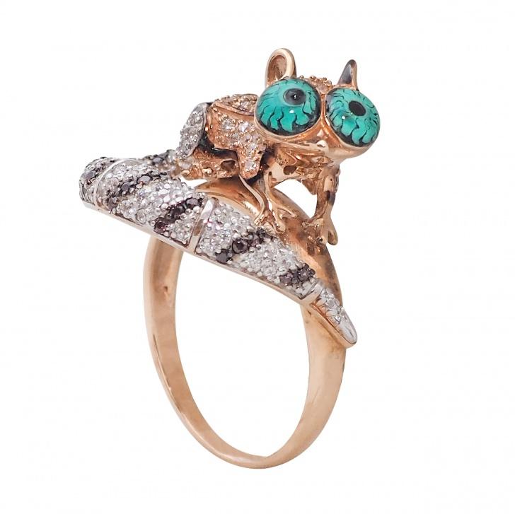 кольцо золотое с цитрином купить